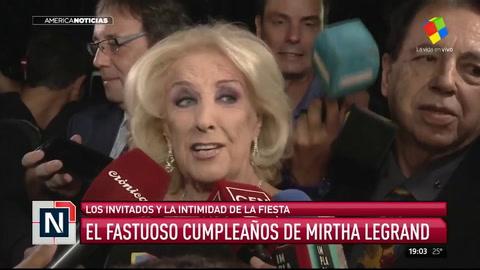 Regalos y famosos: cómo festejó sus 91 años la diva Mirtha Legrand