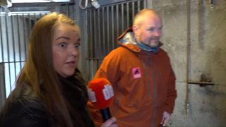 Bjørnens vårbrøl skremmer reporteren