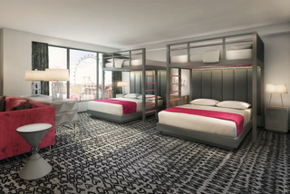 Bunk bed suites at Flamingo Las Vegas