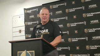 Golden Knights coach Gerard Gallant on facing the Minnesota Wild