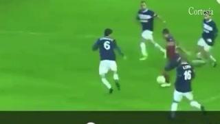 Alfredo Mejía anotó su primero gol con el Pontevedra en España