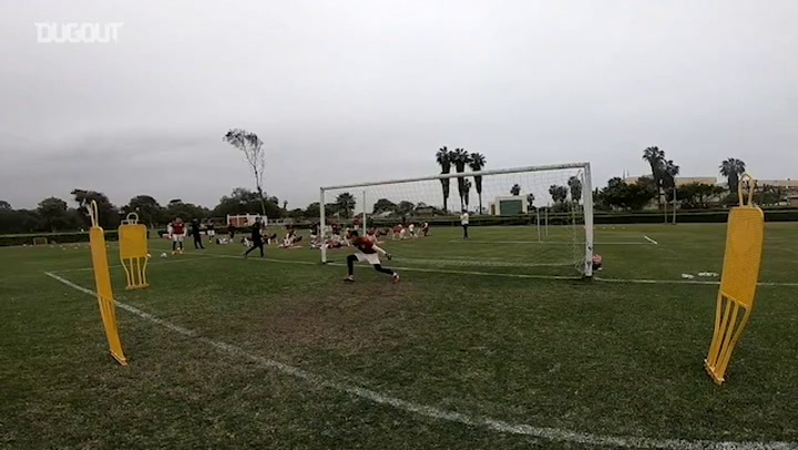 Goalkeepers Training Drills In Campo Mar