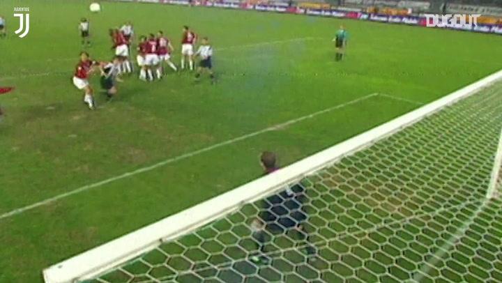 El gran gol de falta de Alessandro Del Piero ante el AC Milan