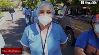 Enfermeras del Hospital del Tórax protestan ante la falta de insumos
