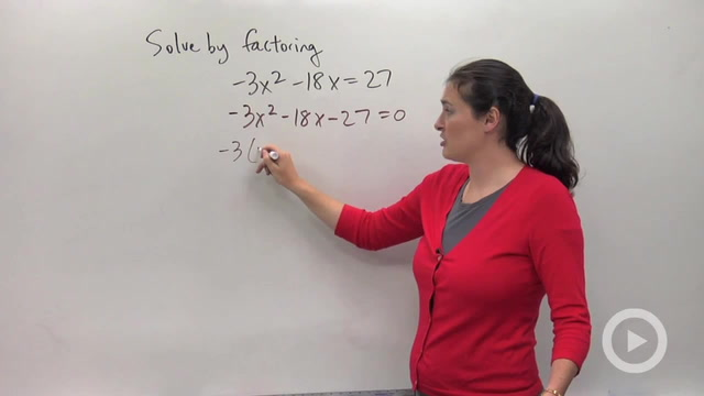 Solving Quadratic Equations by Factoring - Problem 4
