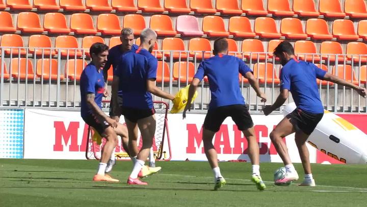 El Atlético prepara el partido ante el Levante