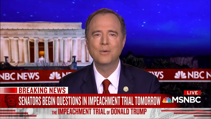 Schiff: Trump's Team 'Basically Has Admitted' Trump 'Acted Corruptly'