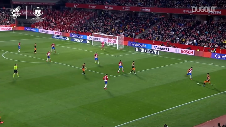 Rodrigo's goal vs Granada in the Copa del Rey