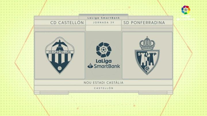 LaLiga SmartBank (J39): Resumen y goles del Castellón 0-2 Ponferradina