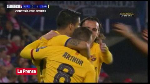 Slavia Praga 0 - 1 Barcelona (UEFA Champions League)