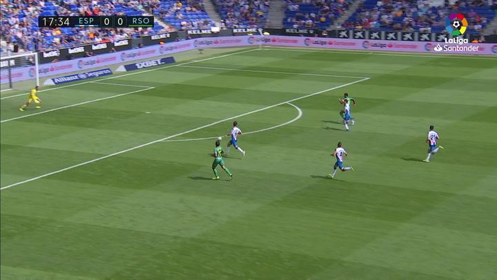 Gol de Willian José (0-1) en el Espanyol 1-3 Real Sociedad