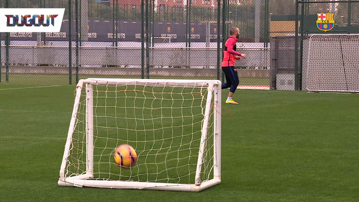 Shooting Practice With Iniesta!