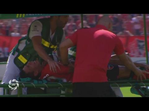 Sarmiento se fracturó el tobillo y hoy lo operan