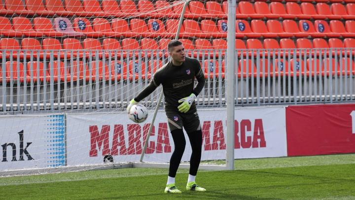 El Atlético se entrena con vistas al partido ante el Villarreal