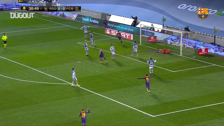 Frenkie de Jong's super header vs Real Sociedad