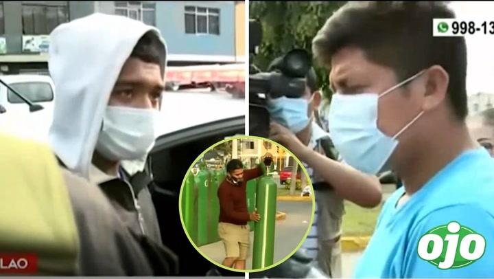 """""""Me quedé dormido en la cola y se roban mi balón de oxígeno"""": joven acusa a otro frente a sede de Criogas"""