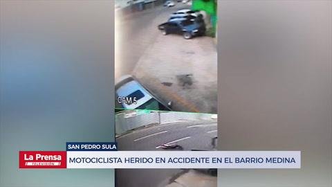 Motociclista resulta herido en accidente en el barrio Medina