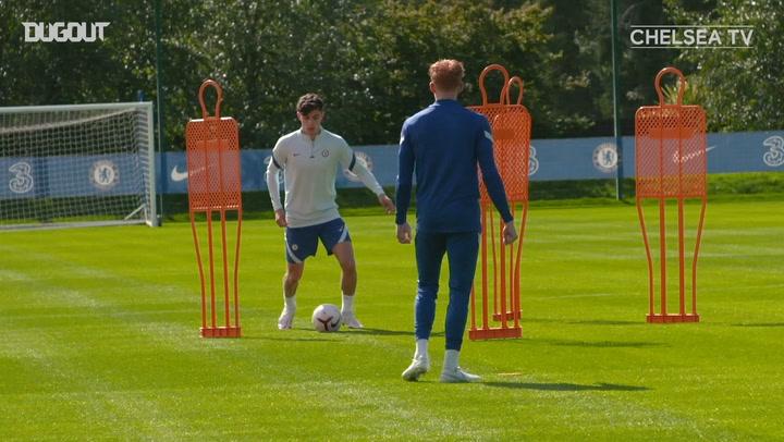 Kai Havertz first training session at Chelsea