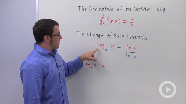 Derivatives of Logarithmic Functions - Problem 3