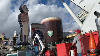 Downtown's Pabst Blue Ribbon neon sign moving to Neon Museum – VIDEO