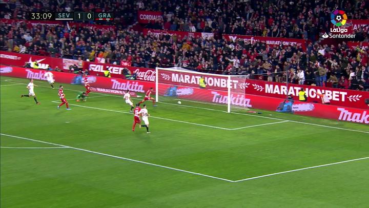 Gol Nolito (2-0) en el Sevilla 2-0 Granada