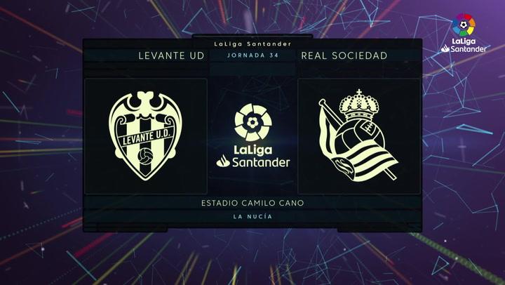 LaLiga Santander (J.34): Levante 1-1 Real Sociedad