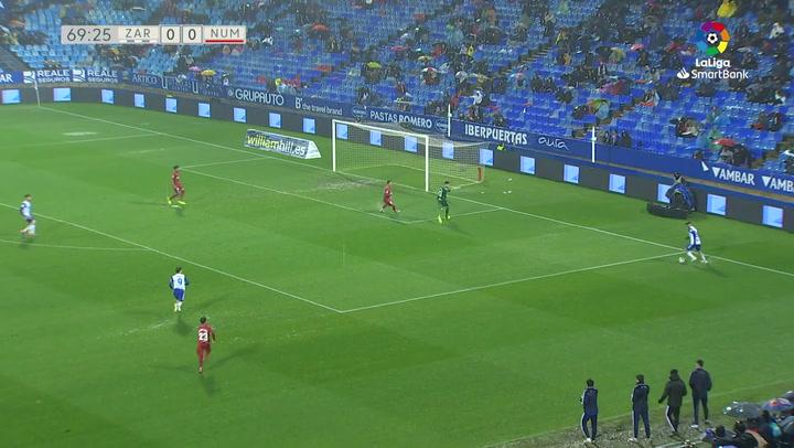 Gol de Javi Puado (1-0) Zaragoza 1-0 CD Numancia J25 JAVI PUADO