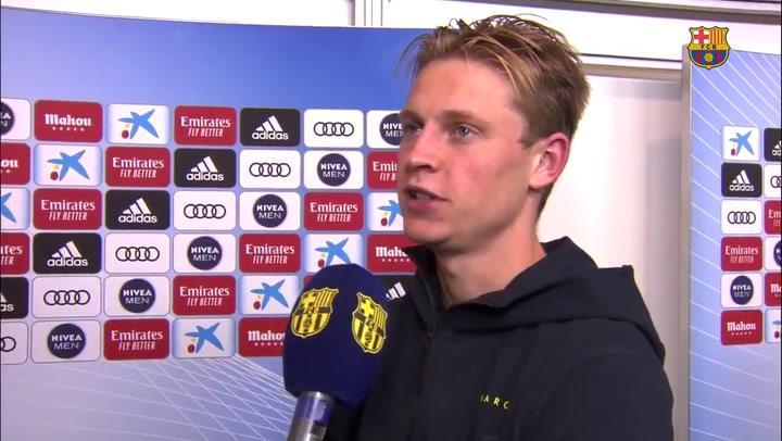 """De Jong: """"Estamos a un solo punto, hay que luchar hasta el final"""""""
