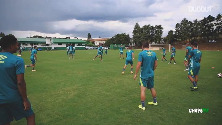 Chapecoense's training session ahead of Criciúma clash