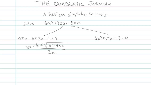 The Quadratic Formula - Problem 7