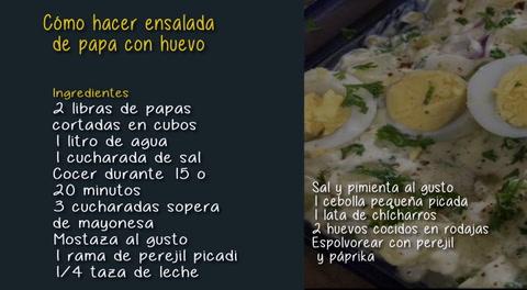 Cómo hacer ensalada de papa con huevo