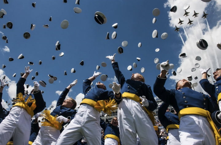 Moments from Air Force Academy Class of 2018 graduation
