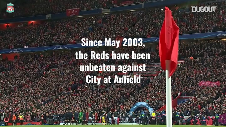 Liverpool's incredible home record against Manchester City