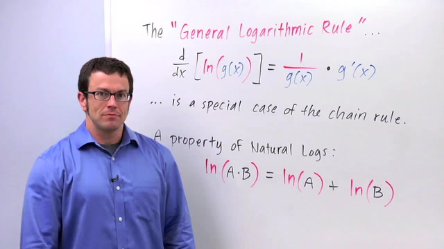 Chain Rule: The General Logarithm Rule - Problem 3
