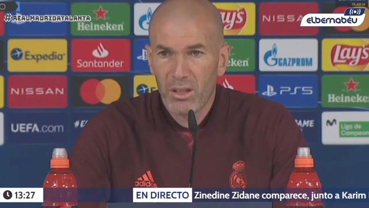 Zidane confirma que Hazard es baja ante el Atalanta