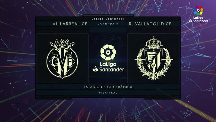 LaLiga (J5): Resumen y goles del Villarreal 2-0 Valladolid
