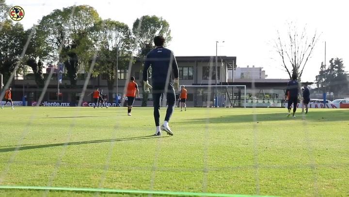 América prepare for the second leg against Chivas