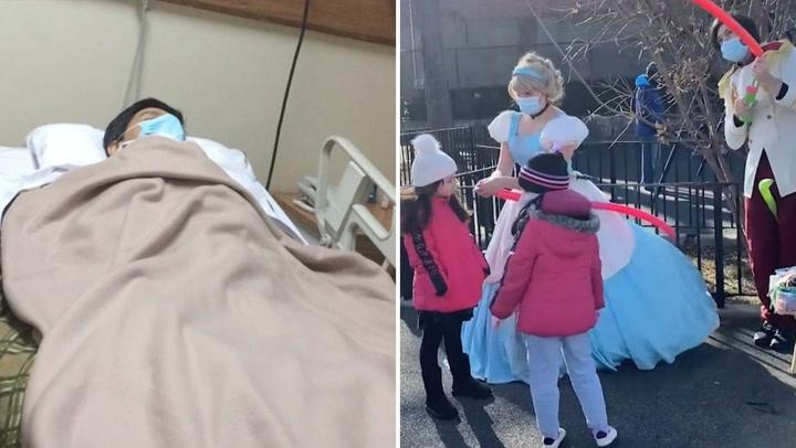 Mujer se disfraza de princesa para ayudar a su padre enfermo
