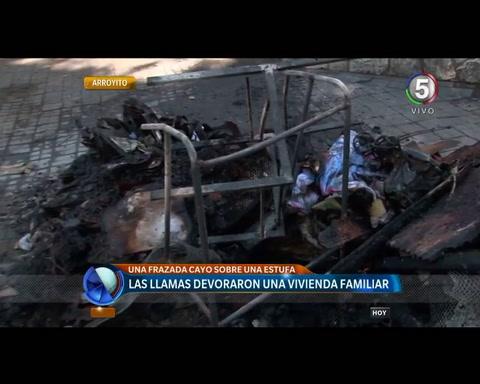 Un incendio causó graves daños en una casa y sus dueños perdieron todo