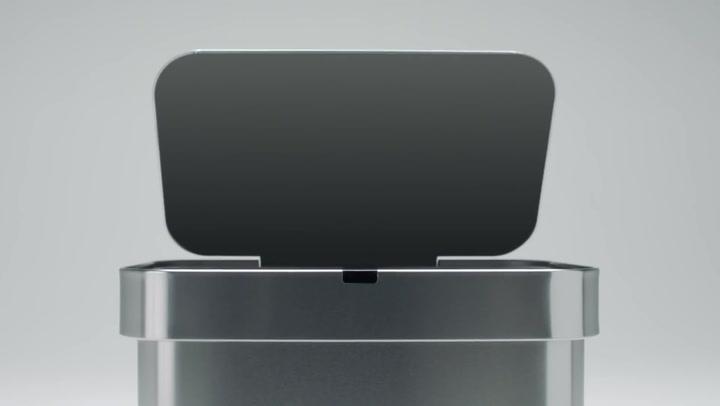 Preview image of Simplehuman Voice & Motion Sensor Control Bin, 58L video