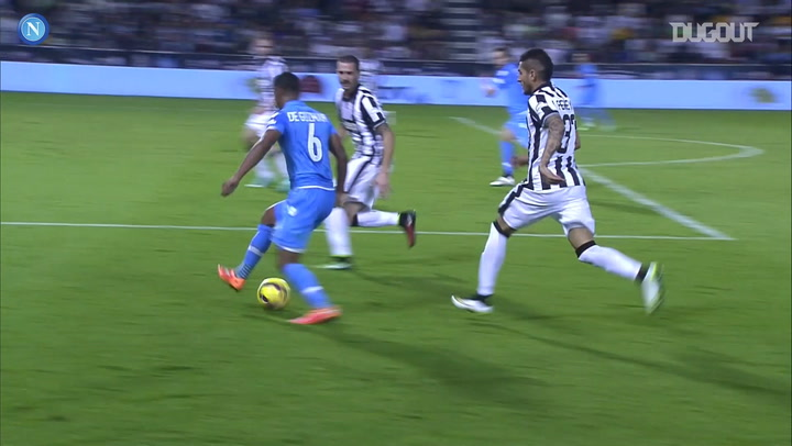 Napoli win the 2014 Supercoppa Italiana against Juventus