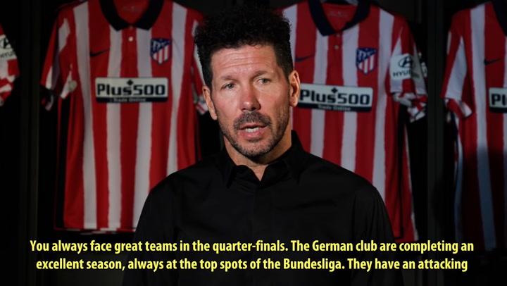 Simeone y Koke analizan el emparejamiento de cuartos de la Champions League ante el Leipzig