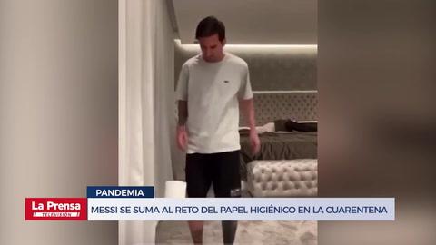 Messi se suma al reto del papel higiénico en la cuarentena