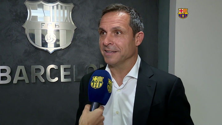 Primeras declaraciones de Sergi Barjuan como entrenador del Barça B