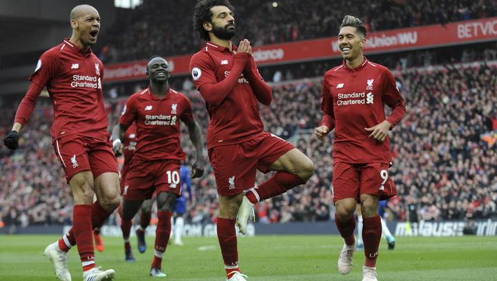 El Liverpool celebra su victoria ante el Chelsea