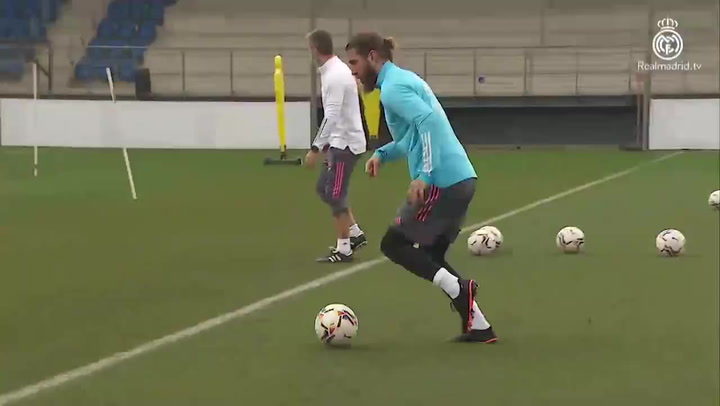 Sergio Ramos accelerates in the recovery