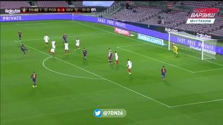 El golazo de Dembélé contra el Sevilla en la Copa del Rey