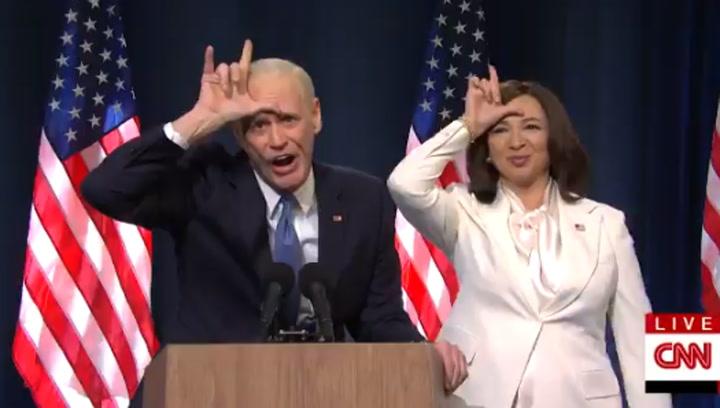 Jim Carrey parodia a Joe Biden y se burla de Trump
