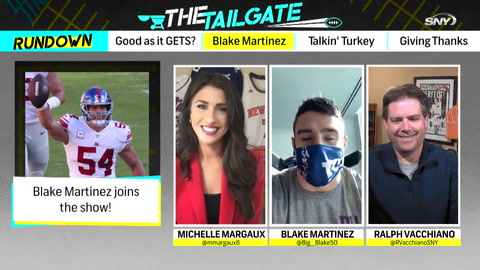The Tailgate: Giants' Blake Martinez joins our Week 12 Thanksgiving show!