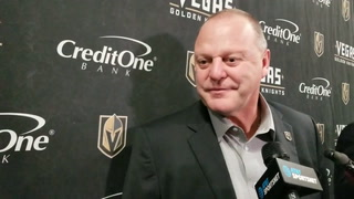 Golden Knights coach Gerard Gallant on playing after the holiday break
